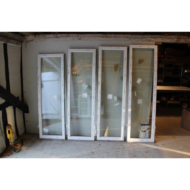 40x205, hvidt sideparti til teressedør og facadedør
